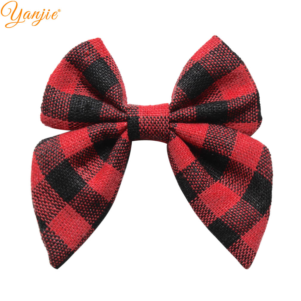 12pcs/lot 3'' Plaid Sailor Hair Bows For Girls 2019 Spring DIY Barrette Headbands Hair Accessories Hair Clips For Kids Headwear