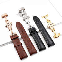 Watch accessories leather strap for Tissot strap 22mm23mm24mm1853 library T035 men's leather black T610028591 watch men band
