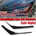 Черный/углеродного волокна вид фар автомобиля глаз крышка фары веки брови Крышка для Toyota Camry LE XLE для SE XSE 2018 2019
