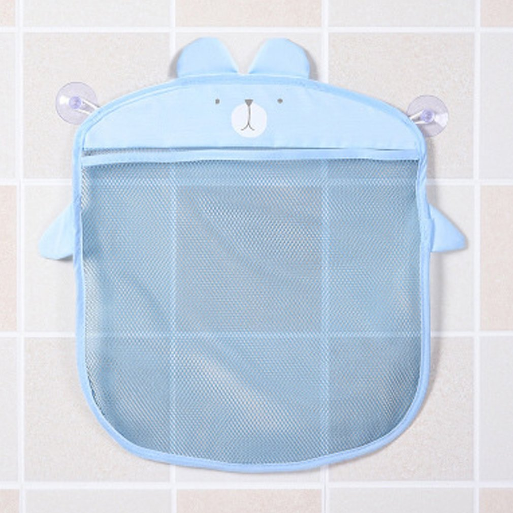 MultiPurposes Korean Fashion Sucker Design Cartoon Home Bathroom Mesh Bags Waterproof Baby Kid Toy Storage Net Bag Drop Shipping