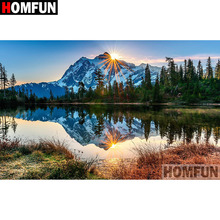 HOMFUN Full Square/Round Drill 5D DIY Diamond Painting Lake scenery Embroidery Cross Stitch 5D Home Decor Gift A08786 homfun full square round drill 5d diy diamond painting deer scenery embroidery cross stitch 5d home decor gift a18124