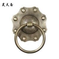 [Хаотянь вегетарианские] классические китайские антикварные дверной молоток дверные ручки медные тарелки медное кольцо ручка HTA 131