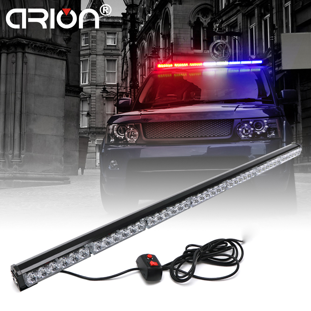 CIRION 31cm to 120cm LED  Light Bar Fireman Flashing Police Emergency Warning Fire Stroboscope Lights Amber White Red Blue luces led de policía