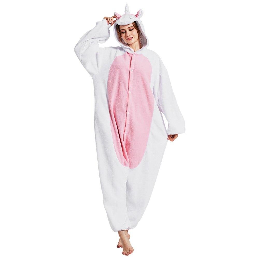 NOUVEAU Chaud Pyjamas Licorne Animaux Cartoon Comedy Unisexe Kigurumi Cosplay Onesies Pour Adultes Femmes Robe Avec UN Capot de Sommeil Globale
