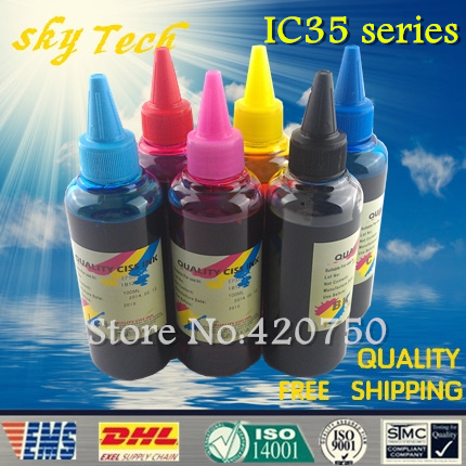 Dye refill ink Suit for Epson ICBK35 - ICLM35 (IC35 Series) cartridges , replacement ink suit for Epson PM-D1000 PM-A900/950 etc dye refill ink suit for epson t5846 cartridges suit for epson pm280 pm200 pm240 pm290 pm225 specialized ink