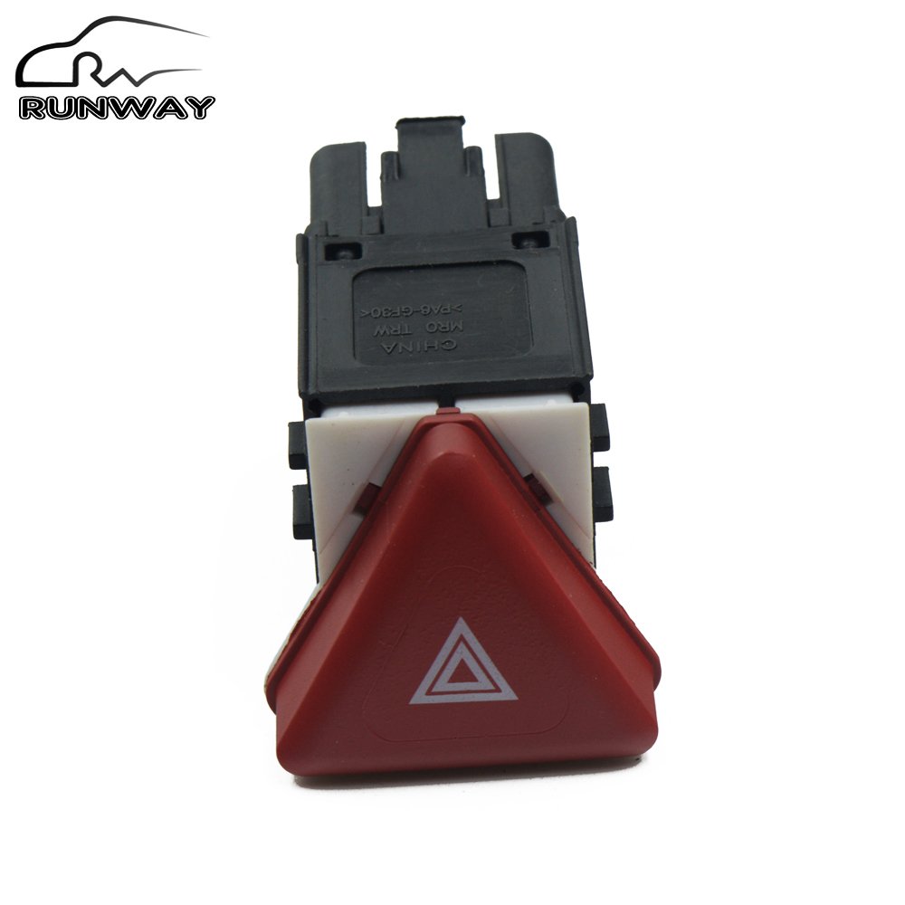 Hazard Warm Button Switch For Volkswagen Vw Jetta Golf V