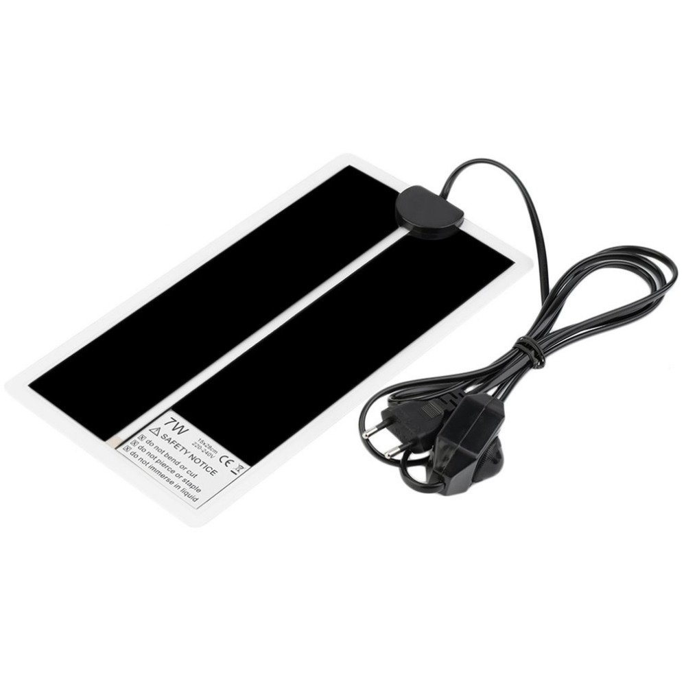 5*28CM Adjustable Temperature Reptile Heating Heater Mat Portable Size Super Thin Pet Heating Pad For Dog Cat EU Plug