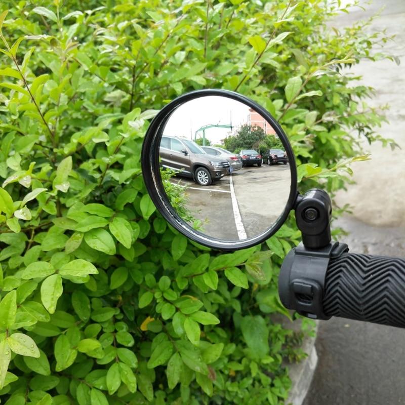 Mini Adjustable Bike Rearview Mirror Bike Bicycle Handlebar Flexible Safe Rearview Rear View Mirror 360 Degrees New #20/25W flexible bicycle helmet rearview mirror black