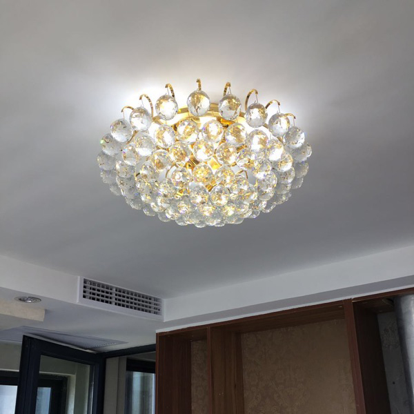Crystal combination LED ceiling lights circular light bedroom porch light balcony corridor living room crystal ceiling lamp ZA upscale atmosphere bedroom crystal light led crystal lamp round lamp minimalist bedroom balcony aisle lights ceiling lights