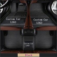 ЛОГОТИП Автомобильные коврики для ног Роскошные кожаные напольные коврики для TOYOTA BMW BENZ Mazda