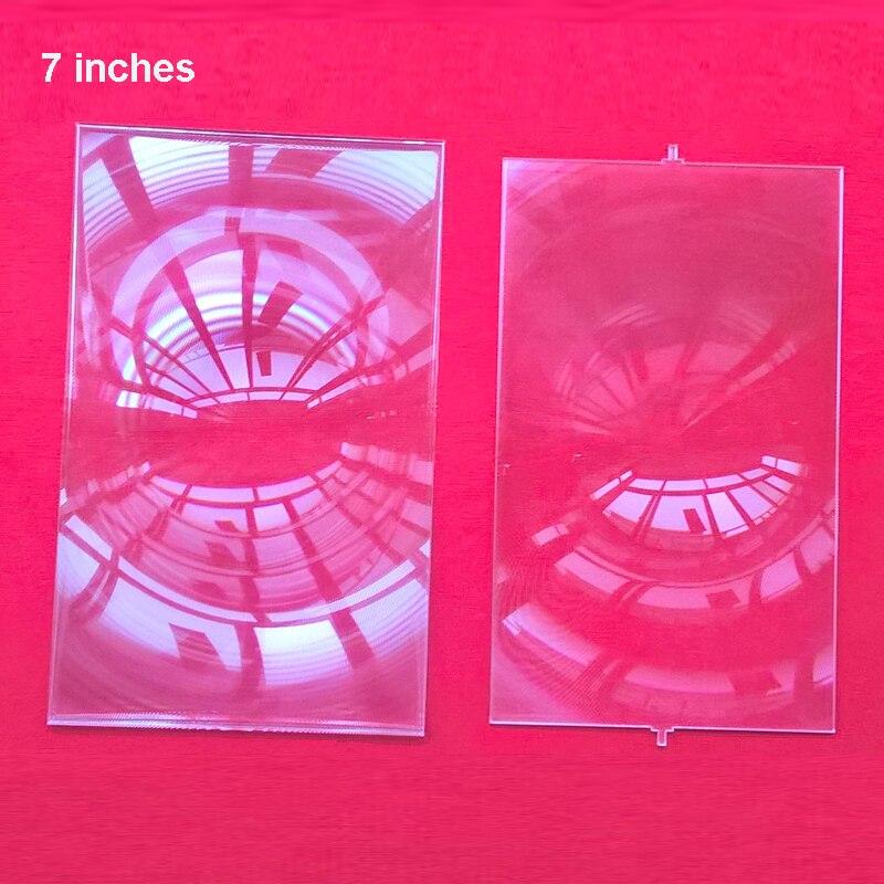 Usine vente! une paire de Lentille De Fresnel Professionnel Projecteur DIY pour 7 pouce Lcd De Projection 2 pcs