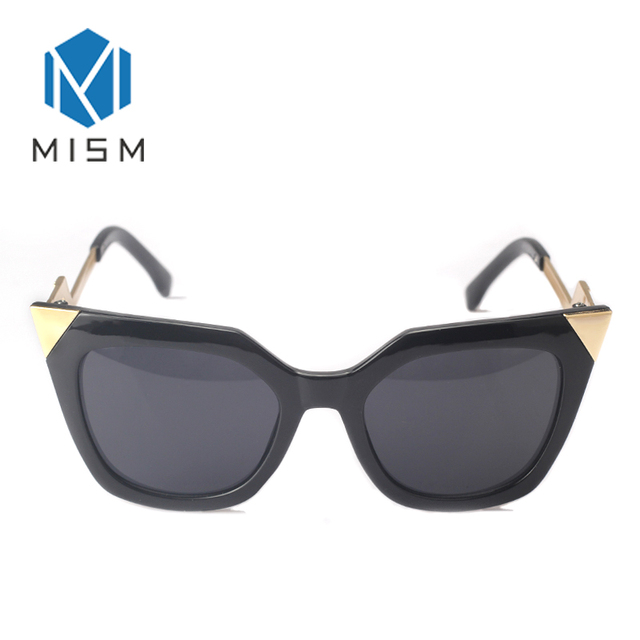 caffaaee2db MISM 2019 New Personality Cat Eye Sun glasses Large Frame Waveform Legs Female  Glasses Colorful Mirror