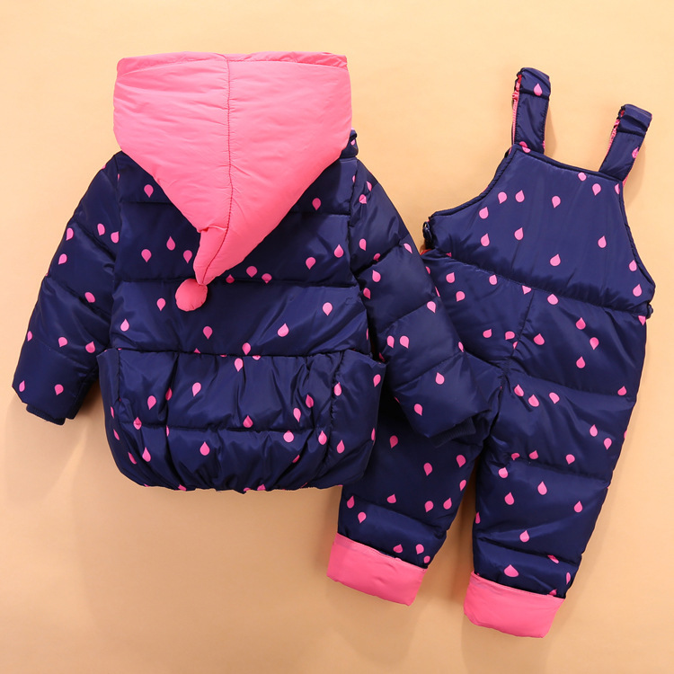 19 Children Down Clothing Sets 2 PCS Coat + Trousers Winter Kids clothes Down jacket Suits Boys & Girls Hooded Outerwear Suit 5