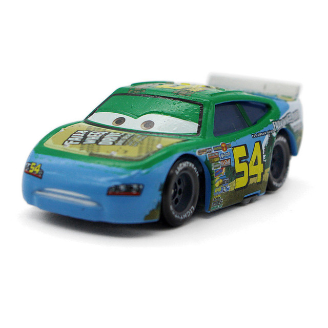 Pixar Cars Green No 54 Faux Wheel Disney Movie Macqueen Cast Racing Car Alloy Metal Toy Model For Children 1 55