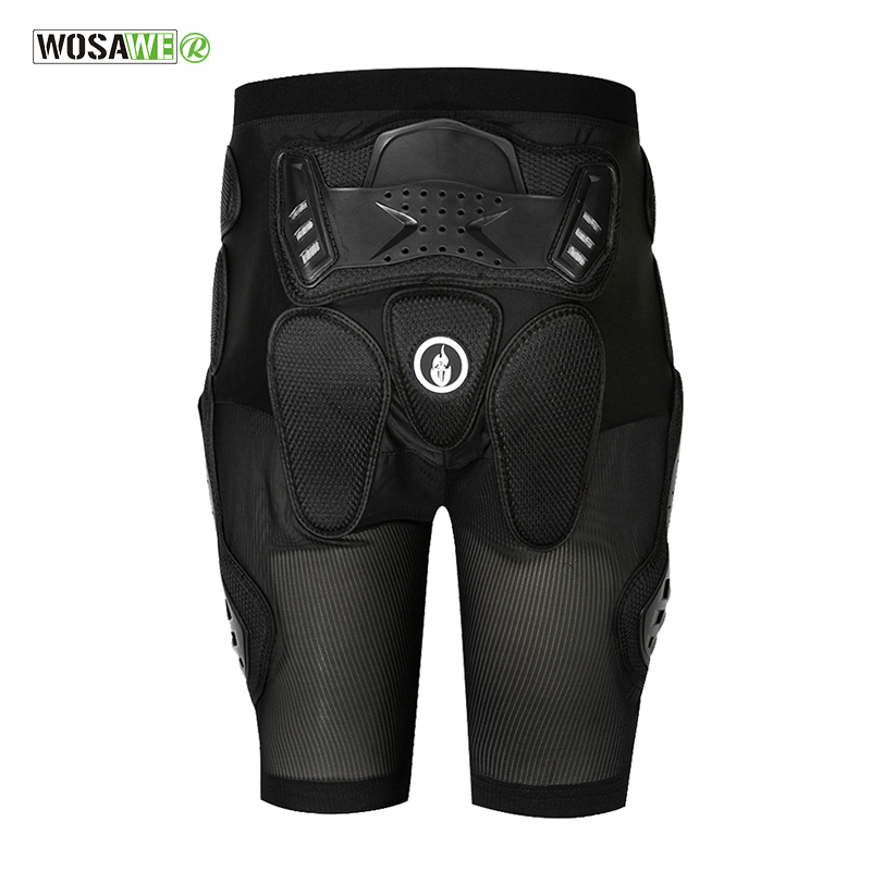 WOSAWE Sports Armor Protective Hip Skateboarding Shorts