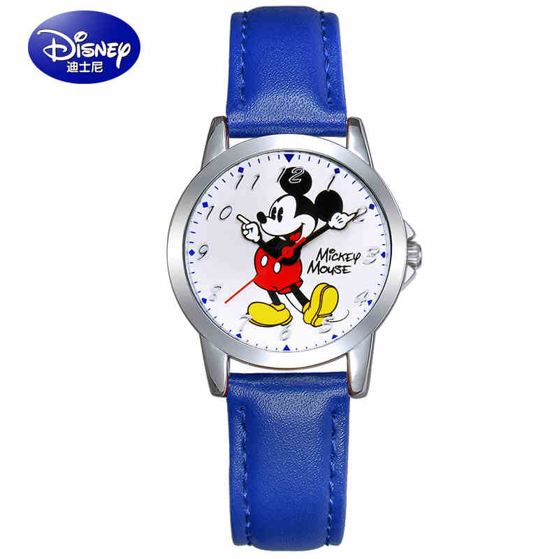 Disney Top Brand Children Watch Mickey Mouse Fashion Men Women Watch Digital Wristwatch Relogio Casual Quartz Leather Watches hoska hd030b children quartz digital watch