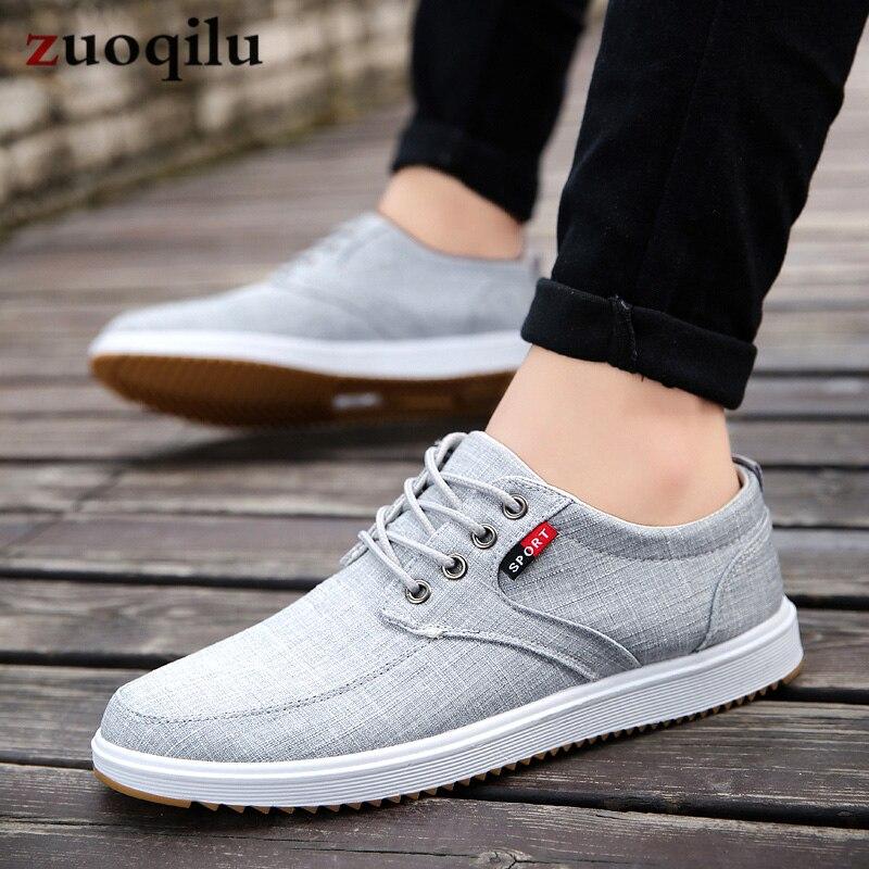 Men Casual Shoes 2019 Summer Canvas Shoes Men Breathable Casual Canvas Men Shoes Walking Men Shoes Chaussure Homme Factory sales 4
