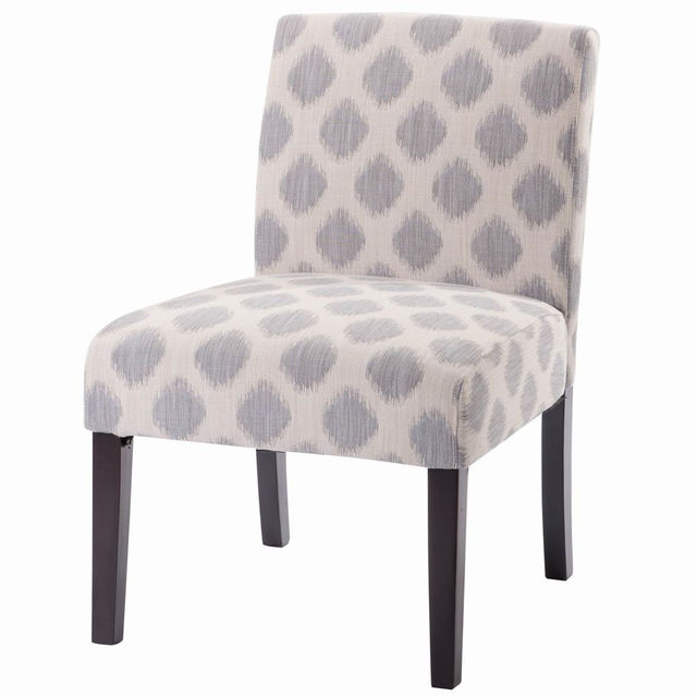 Giantex Chic Plaid Dining Chair Armless Linen Fabric Upholstered Leisure  Chairs Wood Modern Living Room Furniture