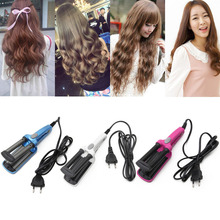 Mini Ceramic Hair Crimper Fast Curler Curling Iron Tong Waving Wand Roller Salon