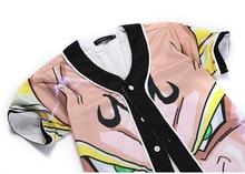Dragon Ball Z Baseball Jersey Short Sleeve T Shirt (24 styles)
