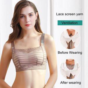 Image 4 - תחתוני נשים להרגיש דק לנשימה תחרה חזייה ללא פלדת טבעת אסף יחד כדי למנוע אור גודל שינה חזייה