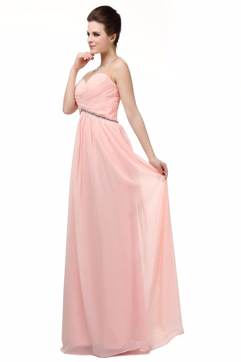 Blush Pink Prom Dresses Long 2017 Sheer Robe De Soiree Longue ...