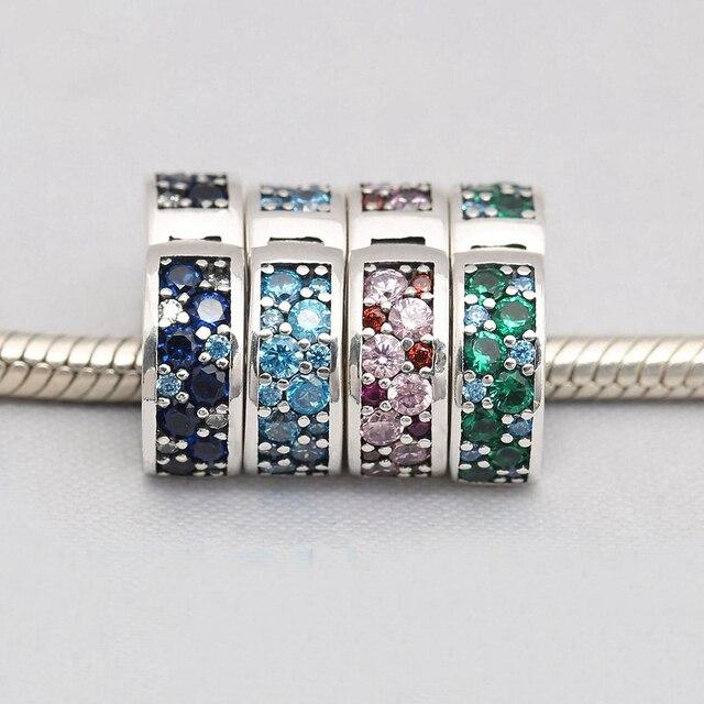pandora clip turquoise