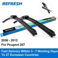 Car Wiper Blade For Peugeot 207 26 17 Rubber Bracketless Windscreen Wiper Blades Wiper Blades Car