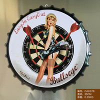 Bulseye Large Beer Cover Tin Sign Logo Plaque Vintage Metal Painting Wall Sticker Iron Sign Bar KTV Store Decorative