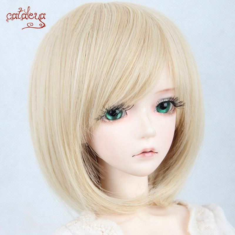 Cataleya Short BJD Wig For 1/3 1/4 Dolls High Temperature Fiber Hair Free Shipping