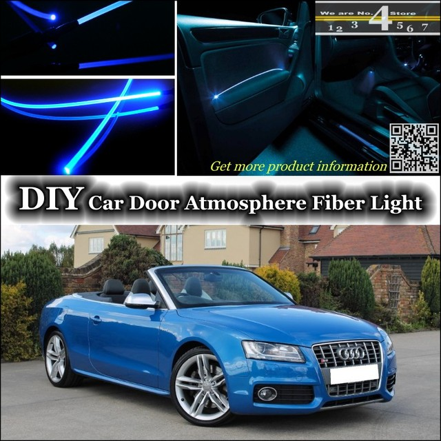 For Audi A5 S5 RS5 Interior Ambient Light Tuning Atmosphere Fiber Optic  Band Lights Inside Door