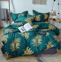 NIOBOMO Cotton Pastoral Flower Cartoon Style Fashion Bedding Bed Linen Bed Sheet Duvet Cover Pillowcase 4pcs Bedding Sets/Queen
