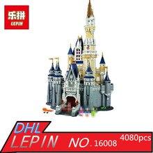 LEPIN 16008 Creator Cinderella Princess Castle City 4080pcs Model Building Block Children Toy Gift Compatible 71040