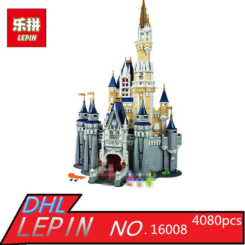 LEPIN 16008 Creator Cinderella Princess Castle City 4080pcs Model Building Block Children Toy Gift Compatible 71040 lepin 16008 creator cinderella princess castle city 4080pcs model building block kid toy gift compatible 71040