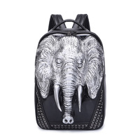 Cool X Rivet Men Travel Backpack Men Elephant Animal Bags 15 6 Inch Laptop Computer Bag