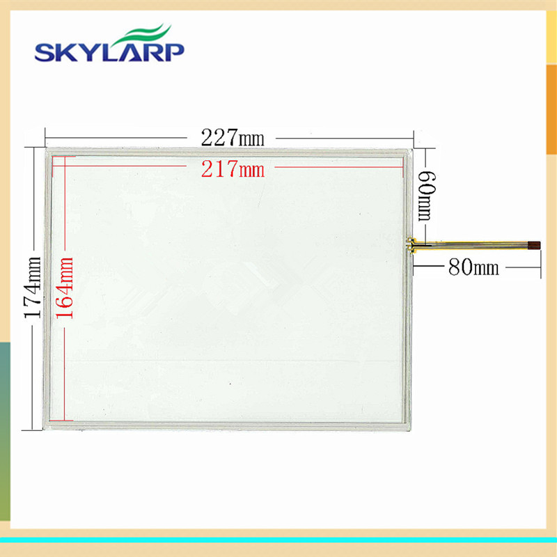 skylarpu New 10.4 inch for 227*174mm touch screen 227mm*174mm Industrial equipment digitizer panel glass