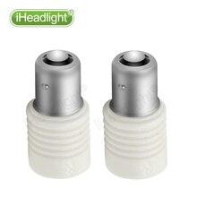 2x1156 3030 P21W 6 leds White Lights 12V 24V 6W Power Ceramic Car Tail Brake Reverse Parking Light bulb side turn signal lamp