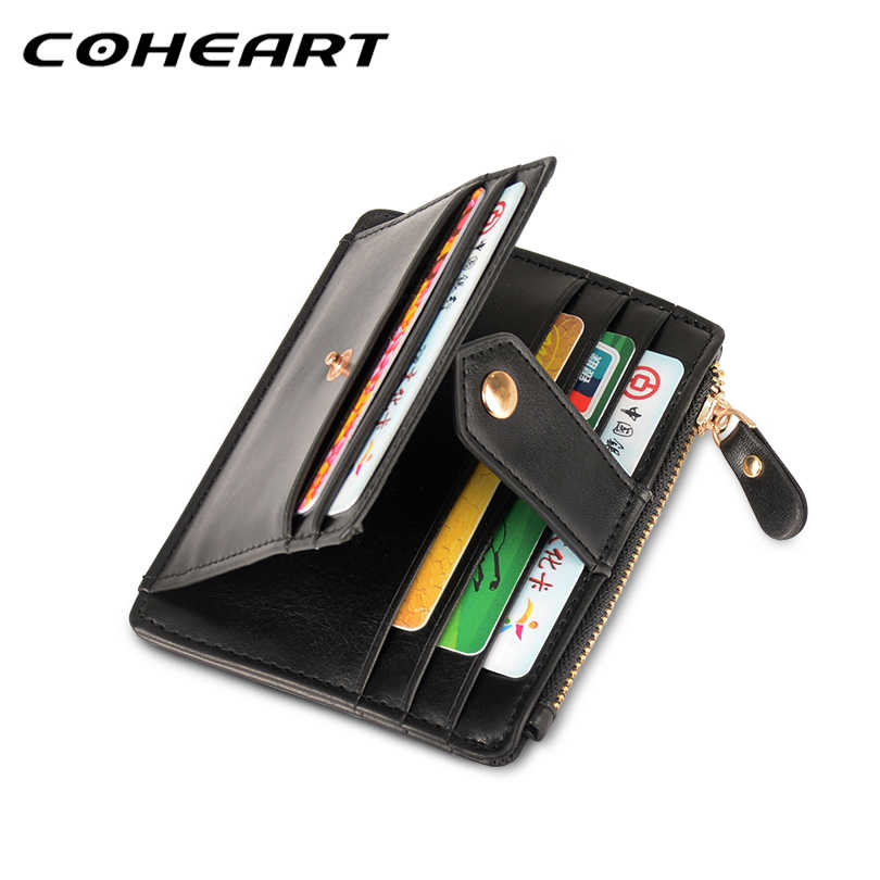 COHEART Card Wallet with coin pocket big capacity card wallets men women card purse credit card holders small thin high quality