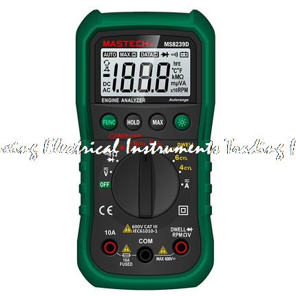 ФОТО MASTECH MS8239D Digital Automotive Multimeter car engine analysis DMMS Dwell Angle/ Speed 4CYL~8CYL Continuity Tester
