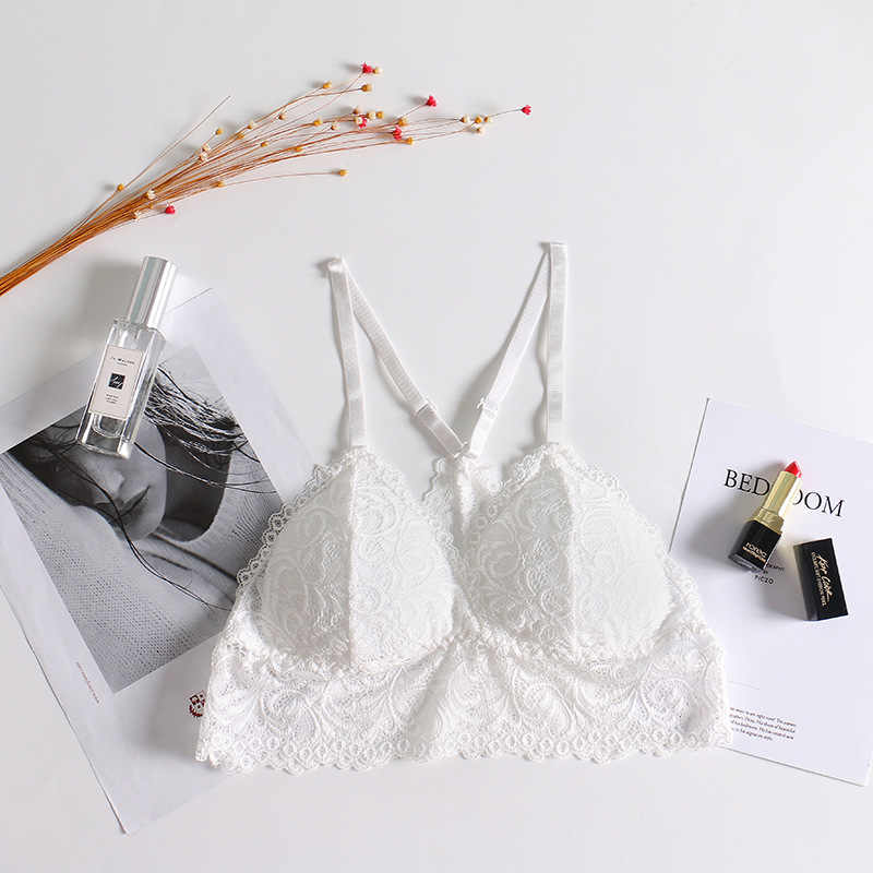 Summer Wire Free Women Seamless Bra Lace Y Shape Strap Lingerie Brassiere Convertible Padded Bras Lingerie None Closure Sexy Bra
