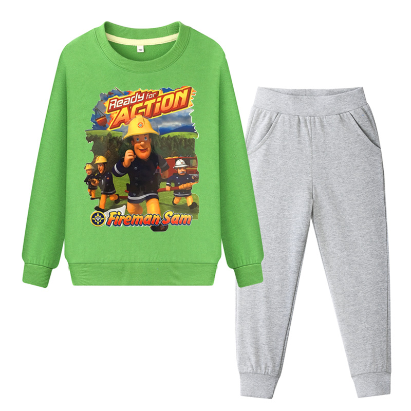 Back To Search Resultsmother & Kids Clothing Sets Kids Fireman Sam Tracksuits Children Outdoor Casual Clothing Sets For Boys Girls Pullover Coat+pant Suit Baby Hoodies Set Wl090