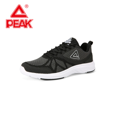 PEAK Men Running Shoes Breathable Mesh Knitting Sport Shoes Cushion Shock Absorption Sneakers Fitness Training Shoes tba brand sport shoes men 2016 new breathable men running shoes for men sneakers shock absorption men jogging athletic shoes