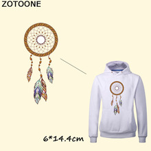 ZOTOONE Feathers Dreamcatcher Stickers Iron On Transfer Patches DIY T-shirt Sweater Heat Patch For Clothing Jacket C