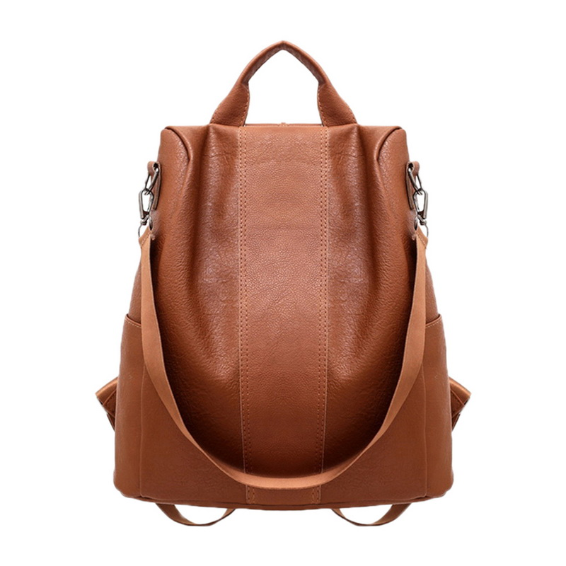 Fashion Women's PU Leather Backpack Large-capacity Youth Leather Backpacks For Teenage Girls Female School Shoulder Bag Backpack