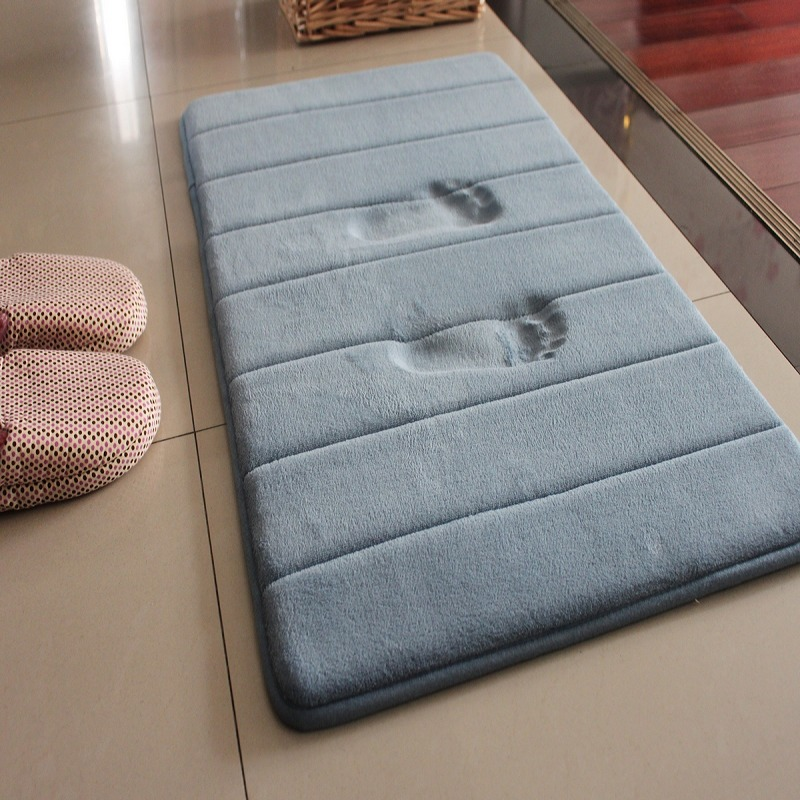 Water Absorption Rug Bathroom Mat Shaggy Memory Foam Bath Mat Set Kitchen Door Floor Mat Carpet For Toilet Non Slip 1pcs