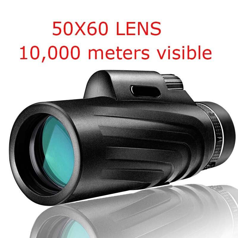 50x60 hd lente de zoom telescópio monocular à prova dwaterproof água lente zoom para smartphone telefone telefone câmera len para caça ao ar livre pássaro