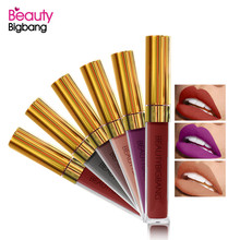 BeautyBigBang Waterproof Matte Lipstick Batom Long Lasting Lip Gloss Kit Makeup Sexy Colors Make Up Liquid Maquiagem