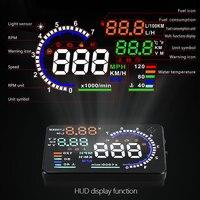 A8 HUD Head Up Display Car OBD 2 Display Digital GPS Speedometer Warning Car HUD OBD2 Display Alarm System