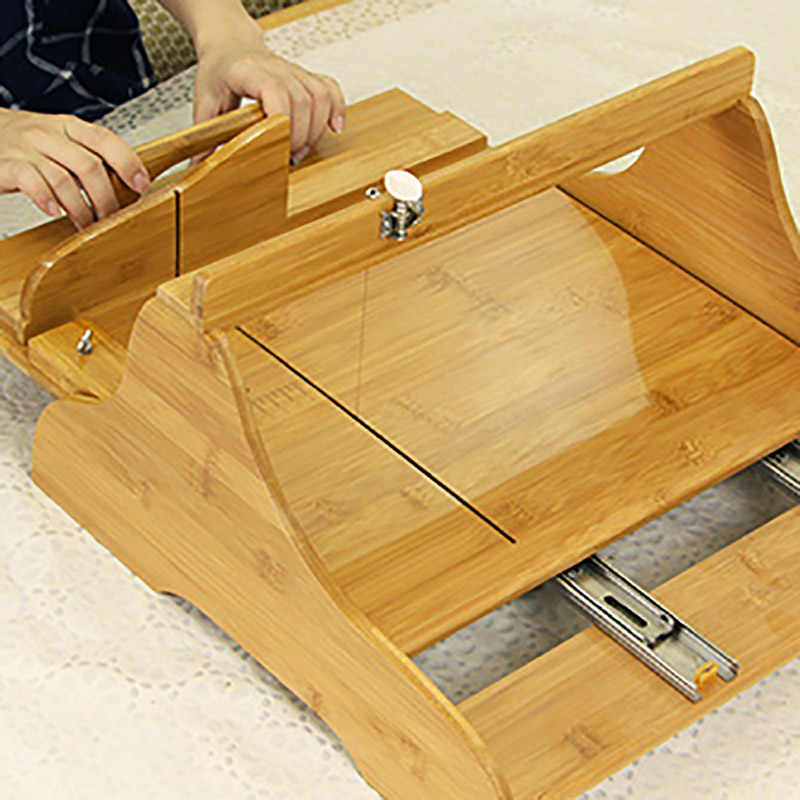 Large Bamboo Soap Cutter Adjustable Handmade Loaf Soaps Making Tool