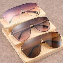 69d719c799a88 Enormes Óculos de Sol Quadrados Homens Hip hop Óculos De Sol Da Marca  Designer Mulheres Óculos de Luxo Grande UV400 dirigir Ócul.